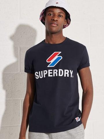 """Superdry Koszulka """"Sportstyle"""" w kolorze granatowym"""