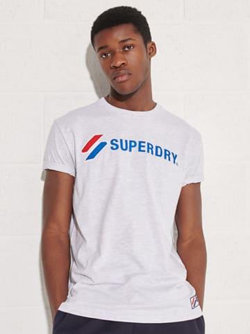 """Superdry Koszulka """"Sportstyle"""" w kolorze białym"""