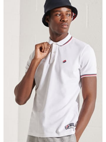 """Superdry Poloshirt """"Sportstyle"""" wit"""