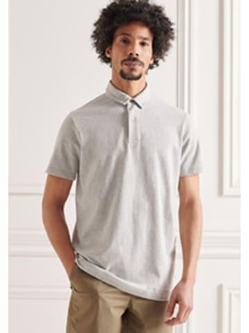 "Superdry Koszulka polo ""Studios"" w kolorze szarym"