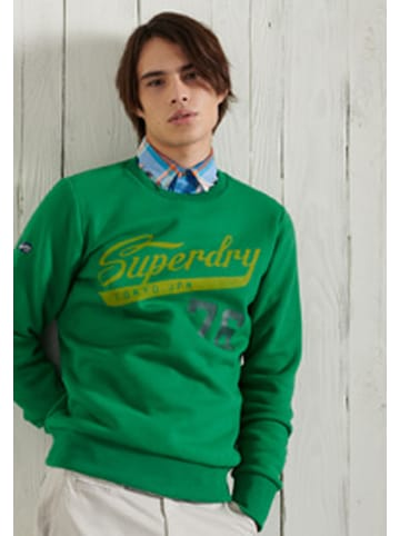 "Superdry Sweatshirt ""Collegiate"" groen"