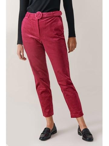 TATUUM Spodnie w kolorze malinowym