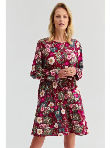 TATUUM Sukienka w kolorze bordowym ze wzorem