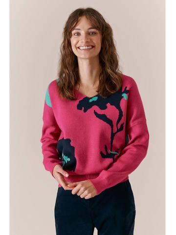 TATUUM Sweter w kolorze różowym ze wzorem