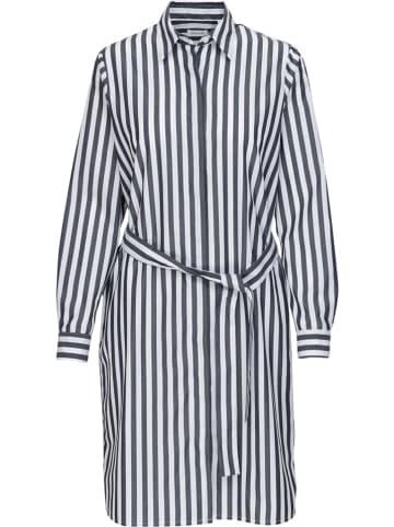 Seidensticker Kleid in Grau/ Weiß
