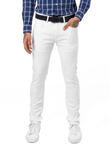 JIMMY SANDERS Spodnie w kolorze białym