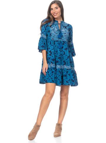 Peace & Love Kleid in Blau