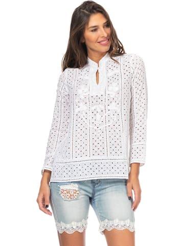 Peace & Love Bluzka w kolorze białym