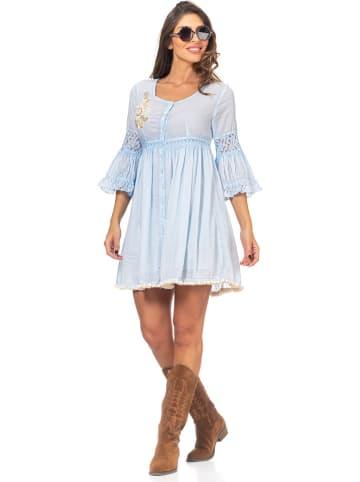 Peace & Love Sukienka w kolorze błękitnym