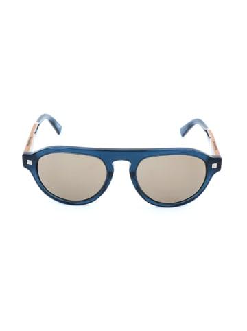 Ermenegildo Zegna Herenzonnebril blauw/lichtbruin