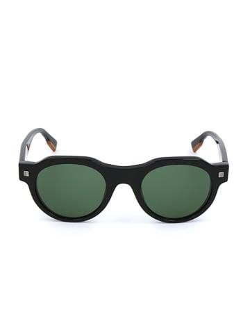 Ermenegildo Zegna Herenzonnebril zwart/groen