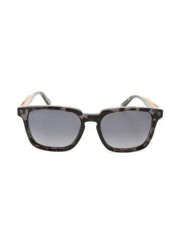 Ermenegildo Zegna Męskie okulary przeciwsłoneczne w kolorze brązowo-szarym