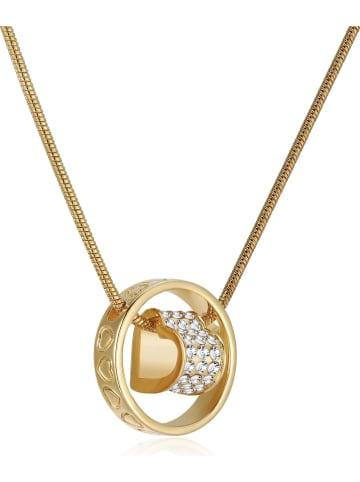 METROPOLITAN Vergold. Halskette mit Swarovski Kristallen - (L)42 cm