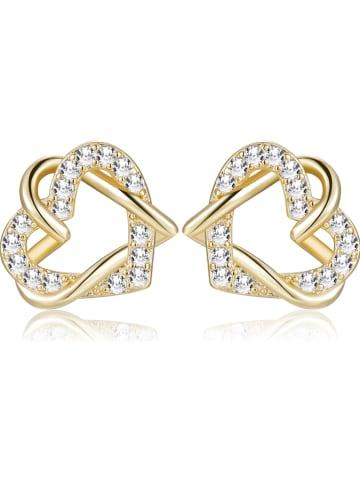 Park Avenue Pozłacane kolczyki-wkrętki z kryształami Swarovski