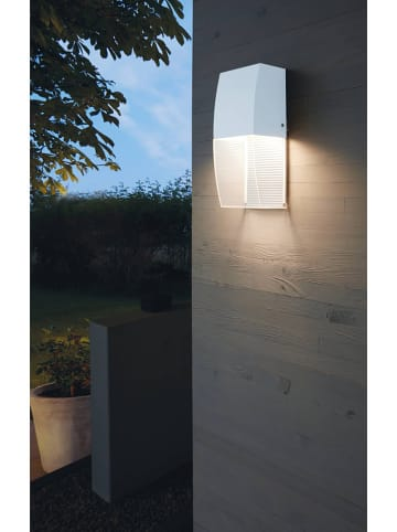 """EGLO Zewnętrzna lampa LED """"Servoi"""" w kolorze białym - 10 x 25 cm"""