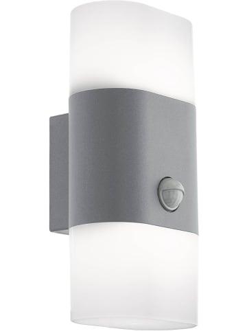 "EGLO Ledbuitenlamp ""Favira 1"" zilverkleurig/wit - (B)12,5 x (H)26 cm"