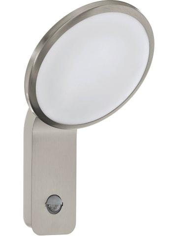 """EGLO Zewnętrzna lampa LED """"Cicerone"""" w kolorze srebrno-białym - 20 x 31,5 cm"""