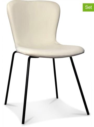 """Deco Lorrie 4-delige set: stoelen """"Adele"""" crème - (B)46 x (H)77 x (D)55 cm"""