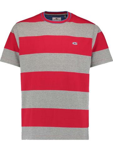 """O'Neill Koszulka """"Block Stripe"""" w kolorze szaro-czerwonym"""