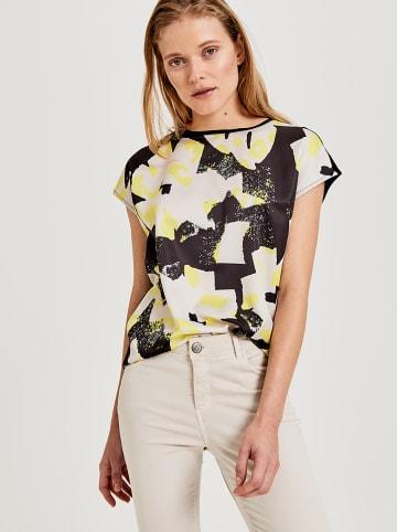 """OPUS Shirt """"Sukasa"""" zwart/geel"""