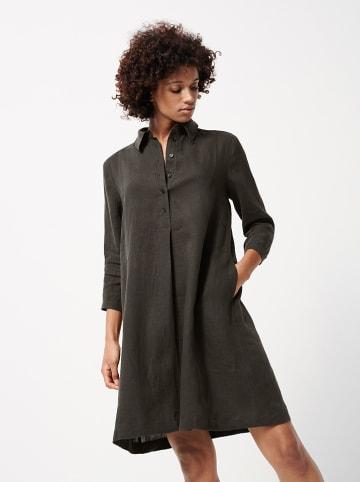 "Someday Linnen jurk ""Quynh"" antraciet"