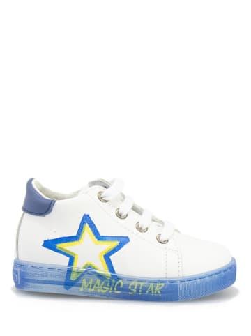 Falcotto Skórzane sneakersy w kolorze biało-niebieskim