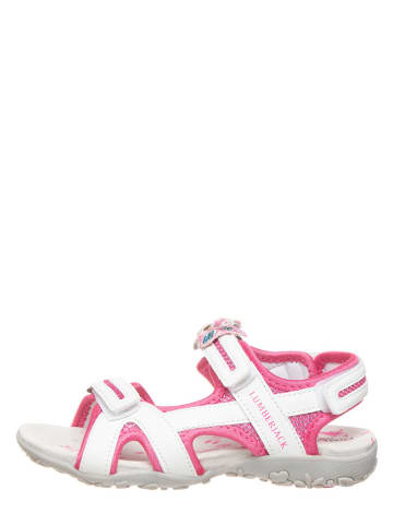 Lumberjack Sandały w kolorze biało-różowym