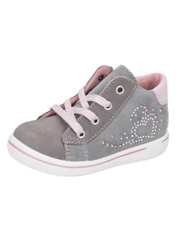 "PEPINO Leren sneakers ""Lina"" grijs"