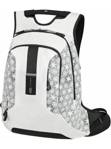 """Samsonite Skórzany plecak """"Star Wars - Stormtrooper"""" w kolorze białym - 32 x 45 x 22 cm"""