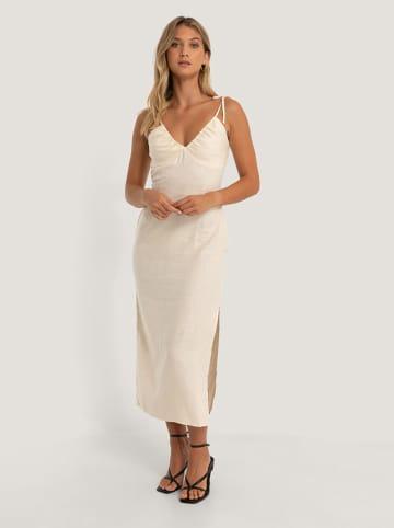 NA-KD Linnen jurk beige
