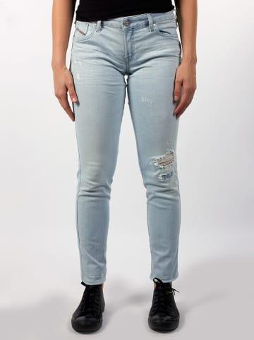 """Diesel Clothes Dżinsy """"Gracey"""" - Super Slim Skinny fit - w kolorze białym"""