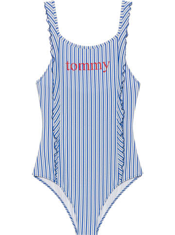Tommy Hilfiger Strój kąpielowy w kolorze niebiesko-białym
