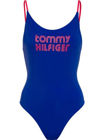 Tommy Hilfiger Strój kąpielowy w kolorze niebieskim