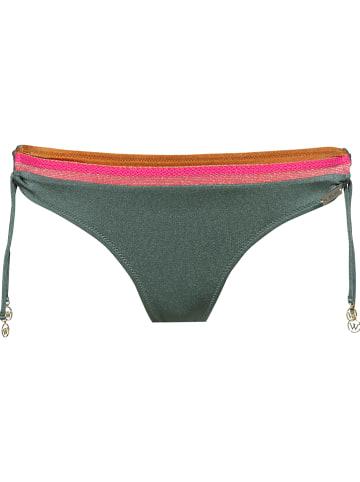 Watercult Bikini-Hose in Grün/ Bunt