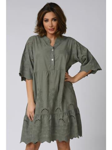 """Plus Size Company Sukienka """"Agathe"""" w kolorze khaki"""