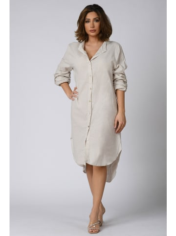 "Plus Size Company Kleid ""Sana"" in Beige"