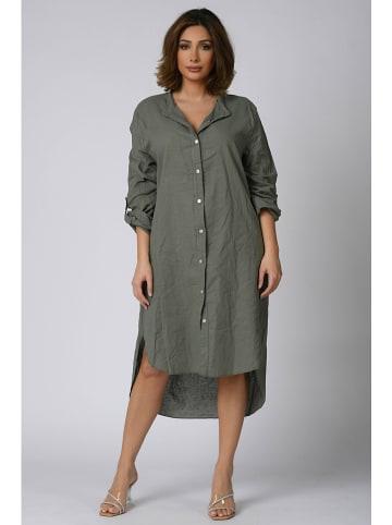 """Plus Size Company Sukienka """"Sana"""" w kolorze khaki"""