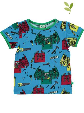 Småfolk Shirt lichtblauw/groen/rood