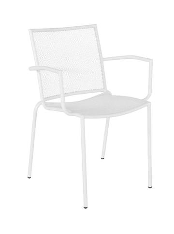 Bizzotto Gartenstuhl in Weiß - (B)56,5 x (H)80,5 x (T)52,5 cm