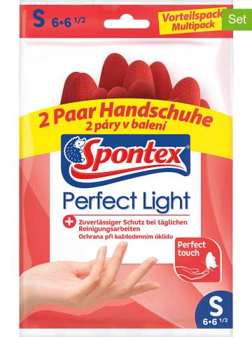 Spontex 7er-Set: Haushalts- Schutzhandschuhe in Rot, je 2 Paar