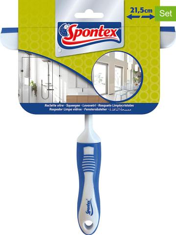 Spontex 2er-Set: Fensterabzieher in Weiß/ Blau