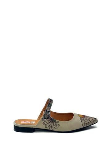 Goby Slippers beige/bruin