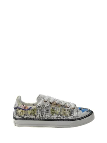Goby Sneakersy w kolorze białym ze wzorem
