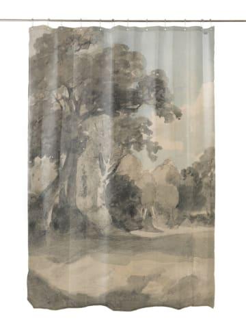 """Madre Selva Zasłona prysznicowa """"Deep Watercolor"""" w kolorze szarym - 200 x 180 cm"""