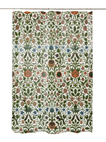 """Madre Selva Zasłona prysznicowa """"Williams Garden"""" z kolorowym wzorem - 200 x 180 cm"""