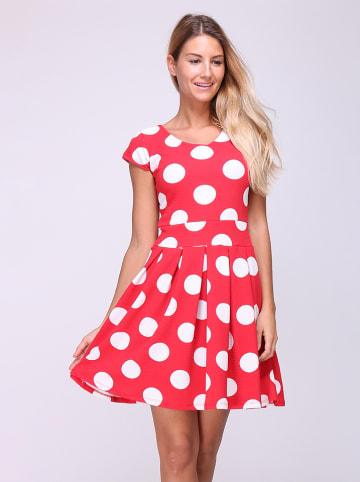 """Revd'Elle Sukienka """"Sydney"""" w kolorze czerwono-białym"""