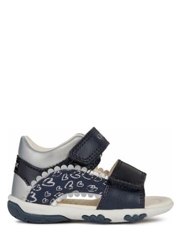 """Geox Sandalen """"Nicely"""" donkerblauw/zilverkleurig"""