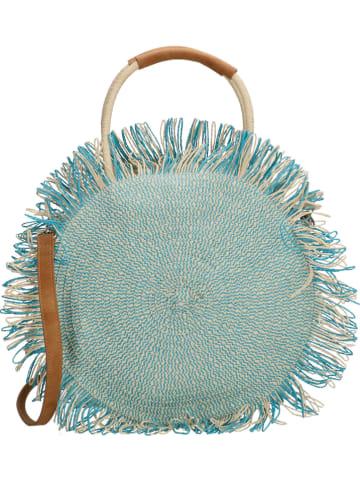 PE FLORENCE Handtas turquoise - (B)31 x (H)31 x (D)12 cm
