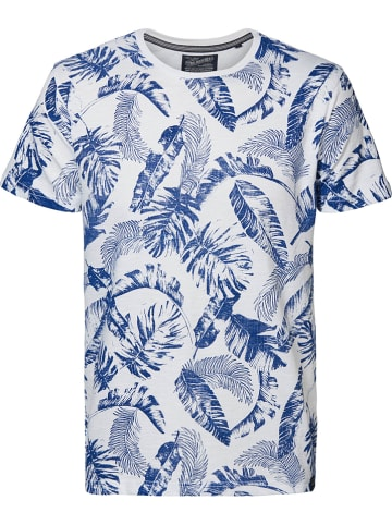 Petrol Industries Koszulka w kolorze biało-niebieskim