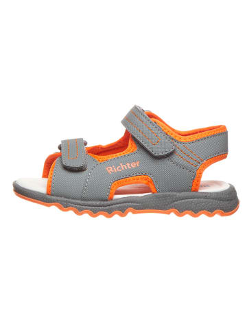Richter Shoes Sandały w kolorze szaro-pomarańczowym